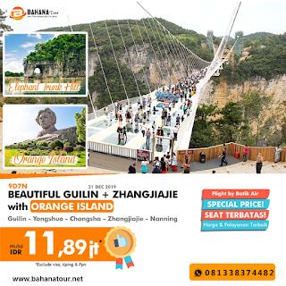 9d7n guilin zhangjiangjie tour desember 2019 bahanatour semarang
