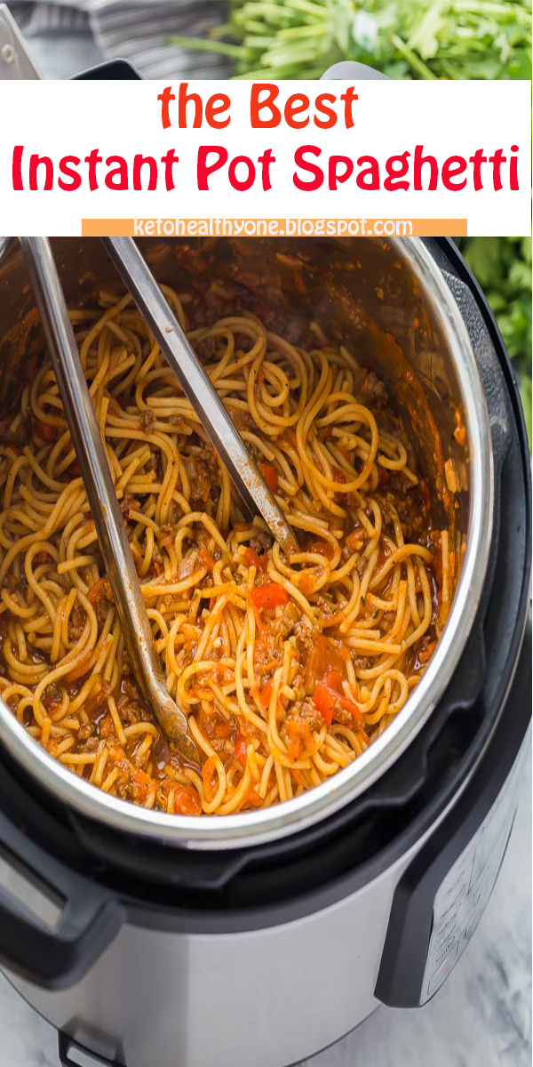 the Best Instant Pot Spaghetti #theBest #InstantPot #Spaghetti #theBestInstantPotSpaghetti