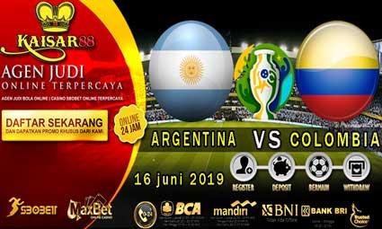 PREDIKSI BOLA TERPERCAYA ARGENTINA VS COLOMBIA 16 JUNI 2019
