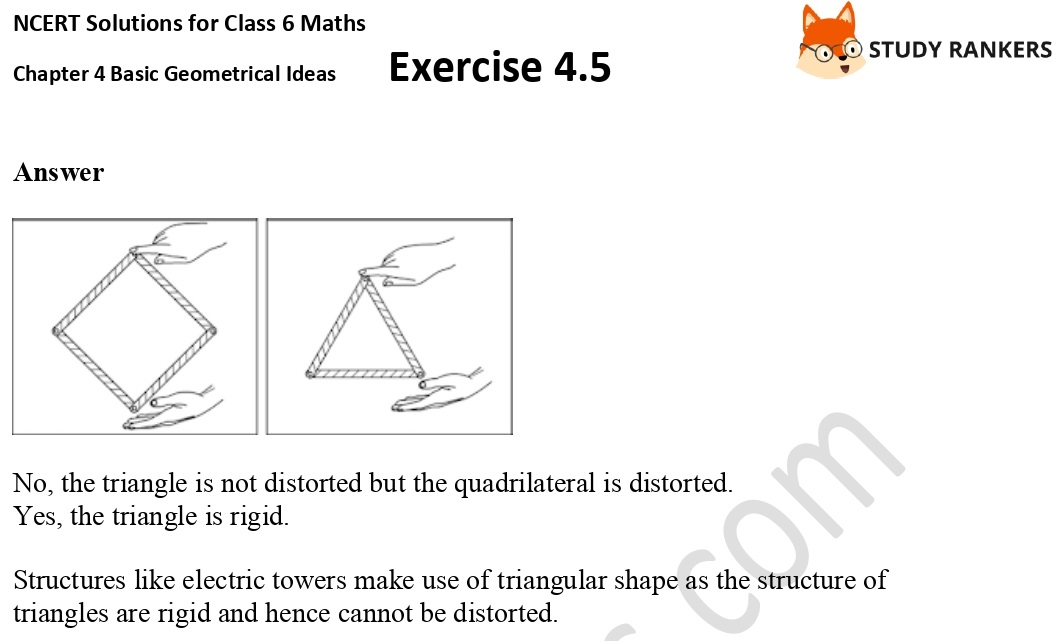 NCERT Solutions for Class 6 Maths Chapter 4 Basic Geometrical Ideas Exercise 4.5 Part 2