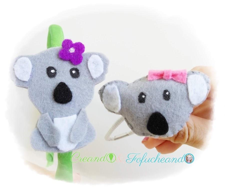 accesorios-para-niñas-koalas-de-fieltro-creandoyfofucheando