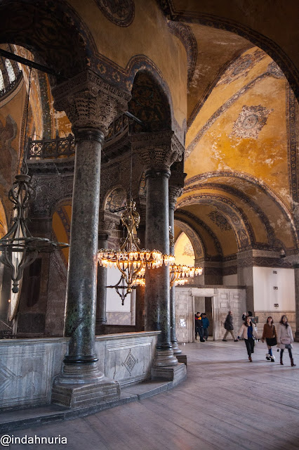 the second floor of Hagia Sophia, Istanbul, Turkey