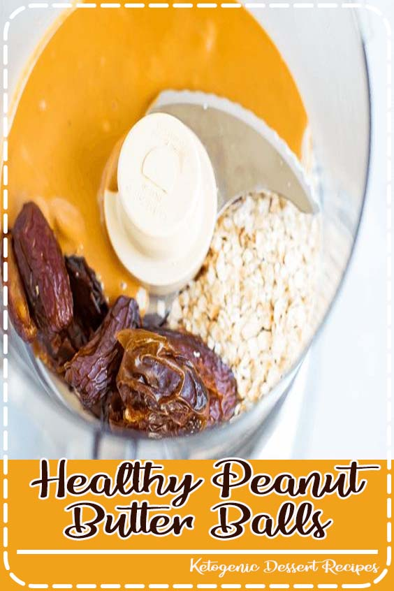 Make healthy peanut butter balls with only  Healthy Peanut Butter Balls