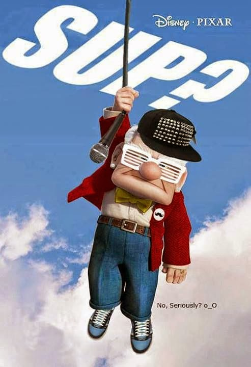 Funny Disney Pixar Up Sup Poster Joke Picture