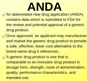 Abbreviated New Drug Application (ANDA) : Pharmaceutical