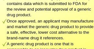 Abbreviated New Drug Application (ANDA) : Pharmaceutical