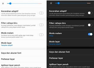WA Dark Mode di Android 10