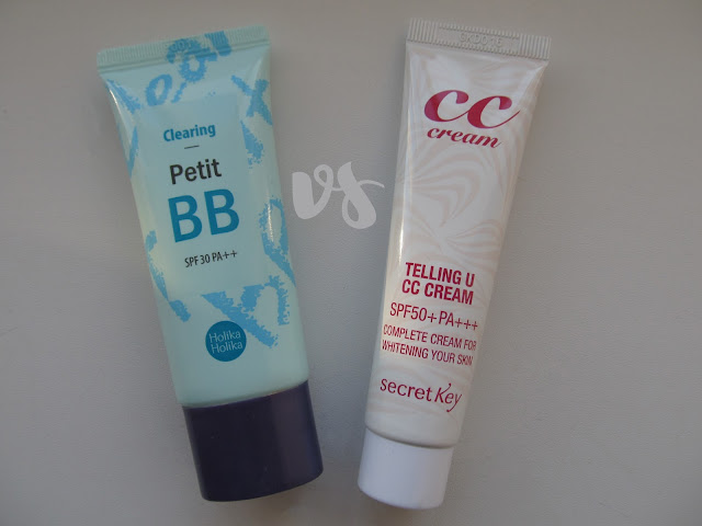 BB Cream vs. CC Cream. Порівняння Holika Holika Petit BB Clearing та Secret Key Telling U