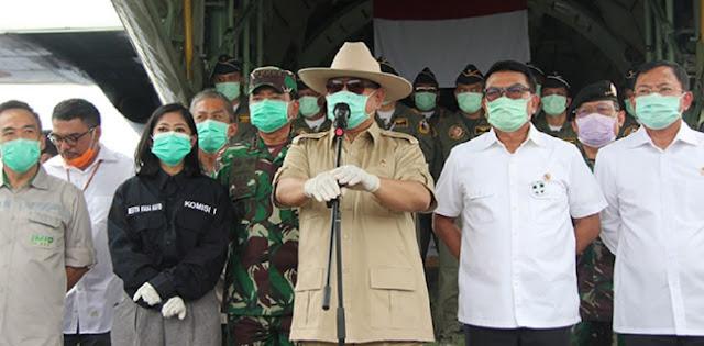Menhan Prabowo : Kita Sangat Serius Memandang Ancaman Virus Corona!