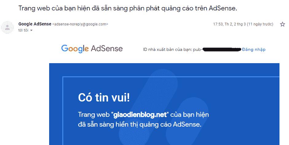 Kinh nghiệm đăng ký thành công Google Adsense Content