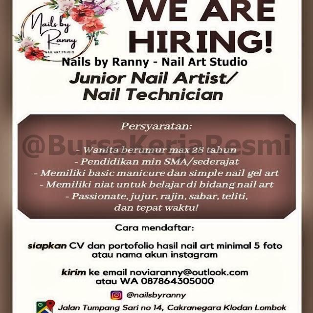 Lowongan Kerja Nails by Ranny Mataram Lombok NTB