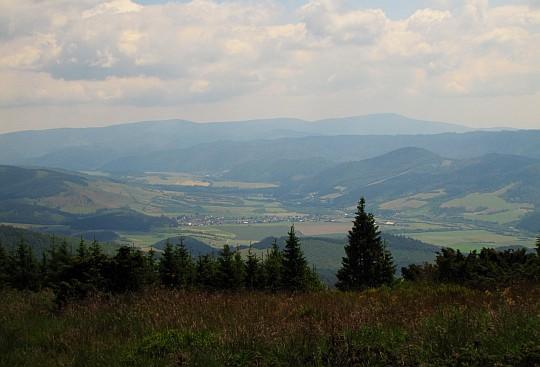 Dolina Hronu z hali Kolesárovej.