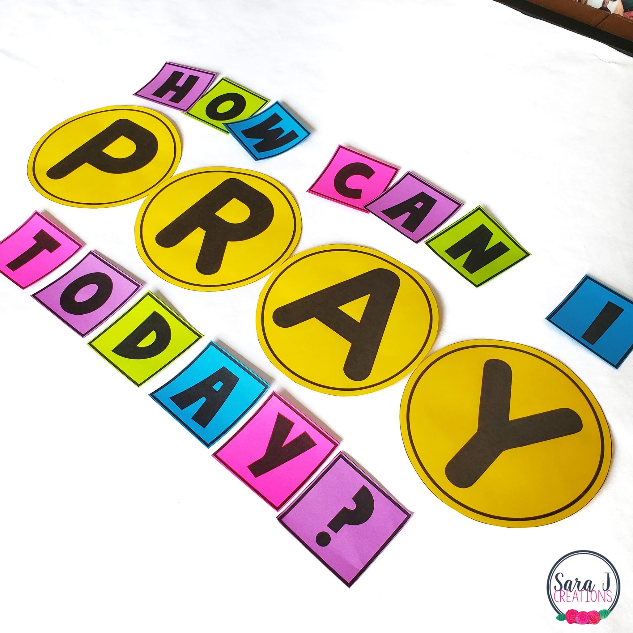 Teach your students 6 different ways to pray with this Catholic Prayers Bulletin Board. The perfect interactive bulletin board for Catholic classrooms
