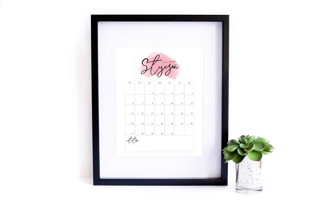 Kalendarz 2020 do druku - Pasje Karoliny