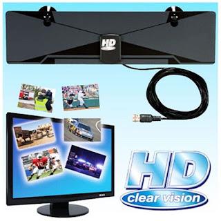 Antena TV Dalam/Indoor Digital HD Clear Vision Universal Slim Tempel
