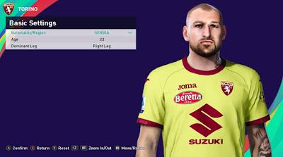 PES 2021 Faces Vanja Milinković Savić by Rachmad ABs