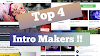 Top 4 free YouTube Intro Makers are Available Now !!