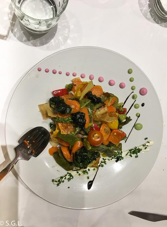 Verduras de temporada. Restaurante Amaren. Comer en Bilbao