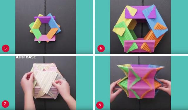 Cara Membuat Kerajinan Vas Bunga dari Stik Es Krim