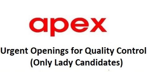 Apex Laboratories | Hiring female candidates for QC department at Chennai