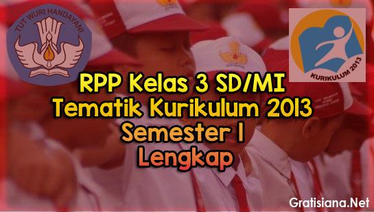 Kumpulan RPP Kelas 3 SD/MI Tematik Kurikulum 2013
