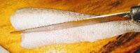 Cutting Bombay duck for bombil fish fry rawa fry recipe