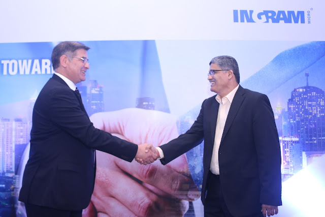 Mr Dalip Sharma- MD, Delta India with Sanjay Achawal- Executvie Director, Ingram Micro at the MOU signing for Delta products Marketing