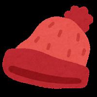 ニット帽のイラスト(赤)