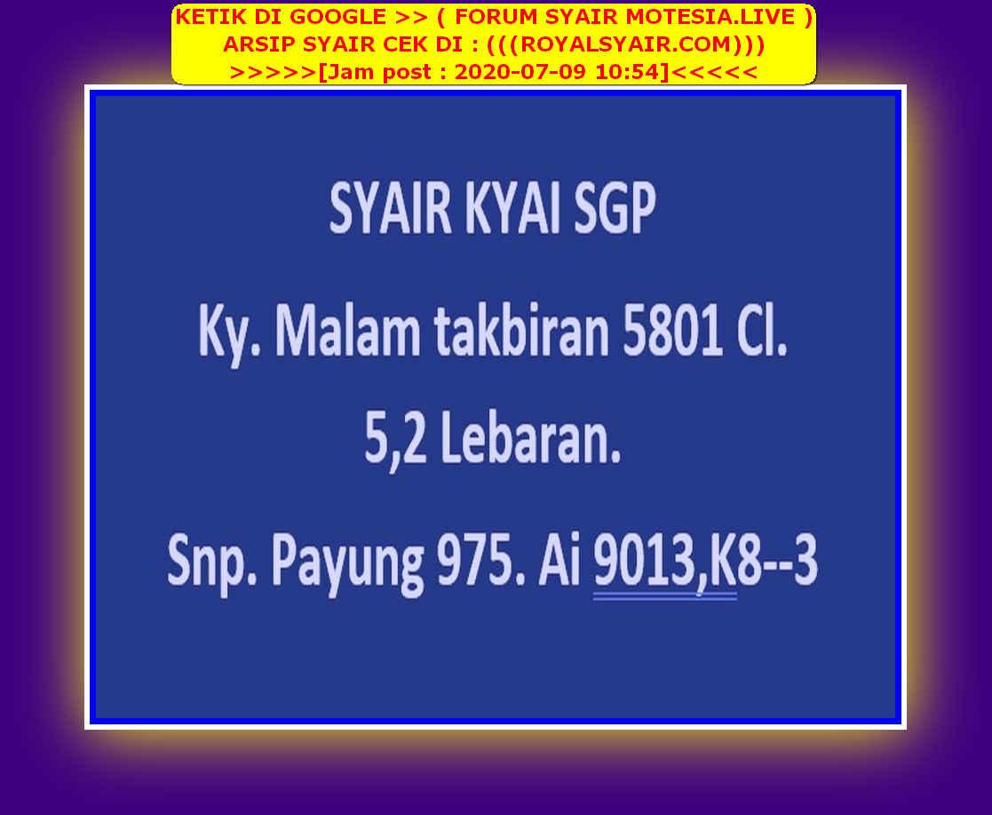 Kode syair Singapore Kamis 9 Juli 2020 40