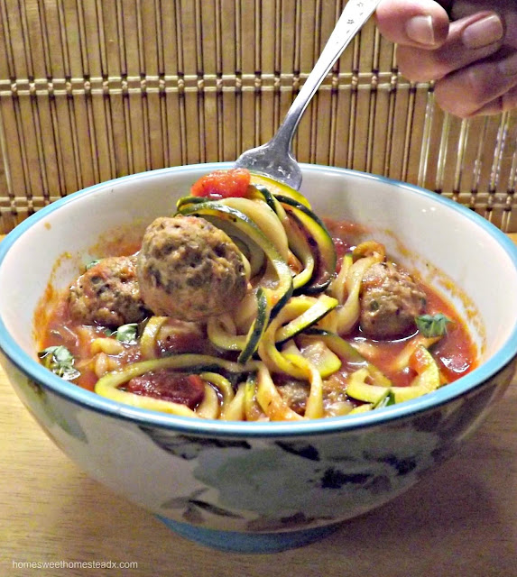 Home Sweet Homestead: Meatball and Zucchetti Soup