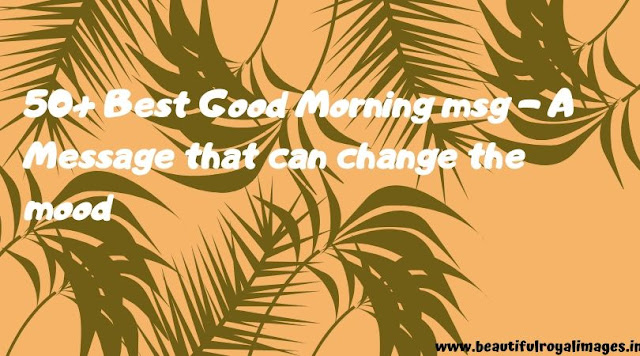 50+ Best Good Morning msg