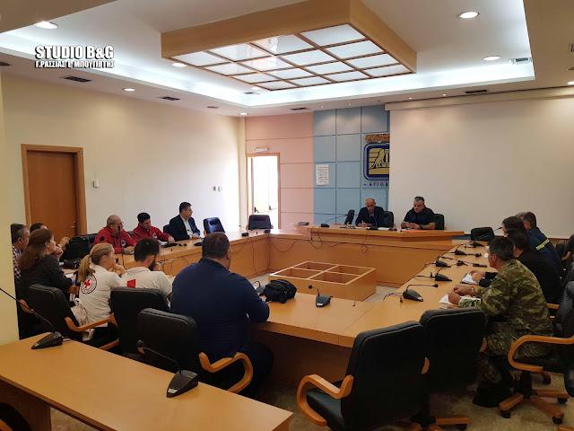 Συνεδρίασε το  Συντονιστικό Τοπικού Οργάνου Πολιτικής Προστασίας  του Δήμου Ναυπλιέων