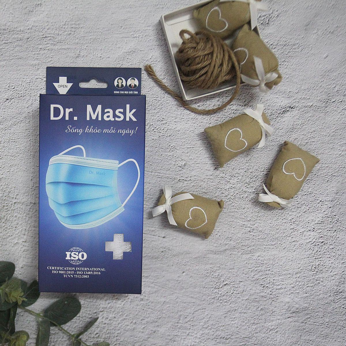 KHẨU TRANG Y TẾ (3 LỚP, HỘP 30 CÁI) - 100 HỘP/THÙNG - DR.MASK