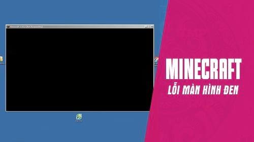 Lỗi ảnh trên nền đen trong Minecraft.
