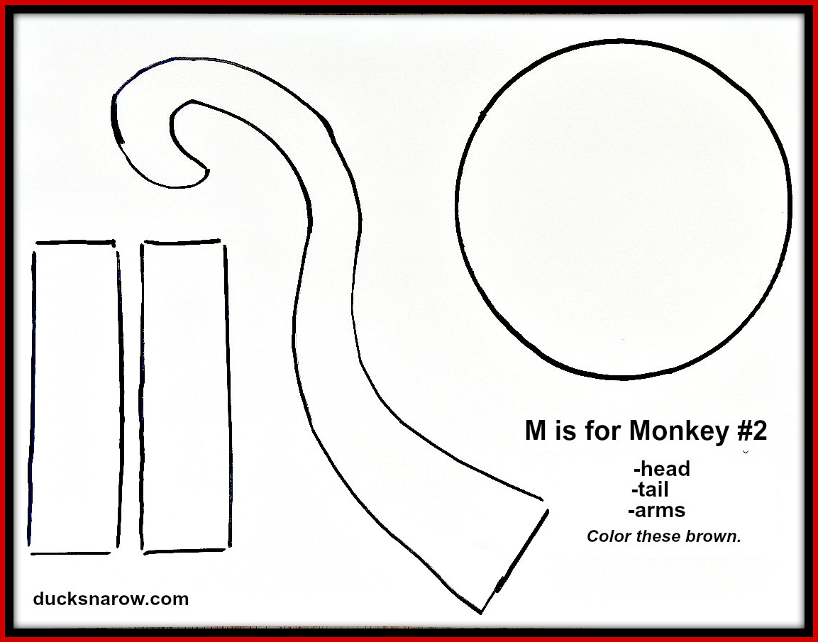 ducks 39 n a row make a fun paper bag monkey puppet with your preschoolers. Black Bedroom Furniture Sets. Home Design Ideas