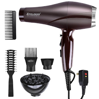 Xpoliman Professional Salon Hair Dryer, Negative Ionic Blow Dryer with Diffuser Concentrator Comb,(style-Purple) (Best Hair Dryer, Best Blow Drye)