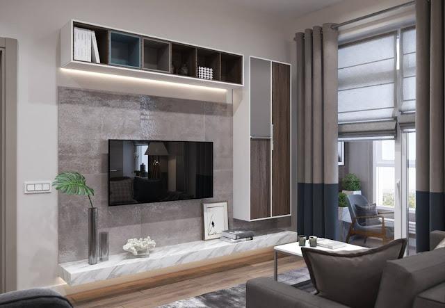 Những mẫu kệ tivi nội thất phòng khách chung cư đơn giản và ấn tượng P1