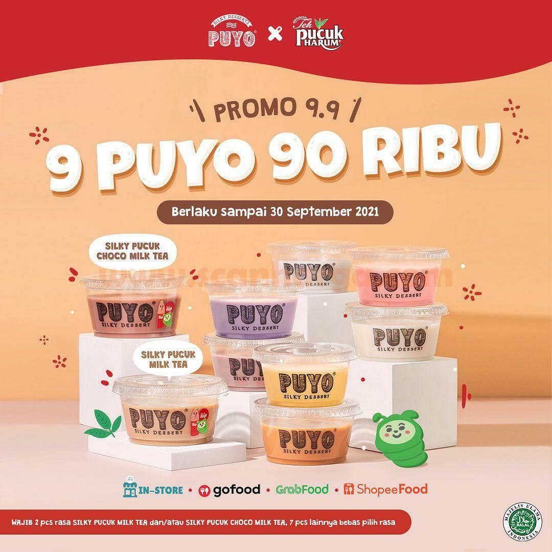 Promo PUYO X TEH PUCUK HARUM 9.9 –  Harga Spesial 9 Puyo cuma 90 Ribu