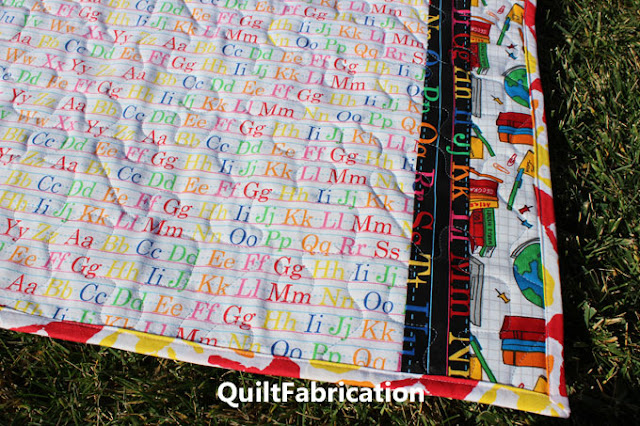 backside of School Days baby quilt