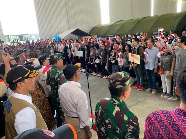 Pemulangan 285 WNI dari Natuna Menggunakan 3 Pesawat TNI
