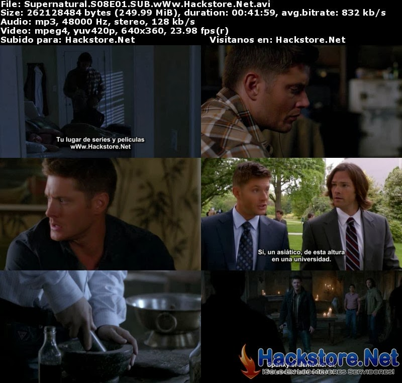 Captura Supernatural Temporada 8 Subtitulado