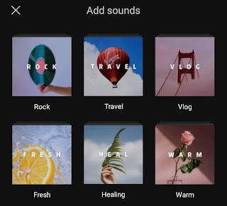 capcut music category