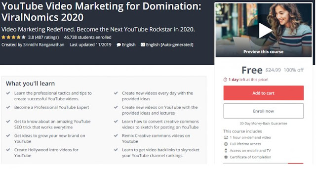 [100% Off] YouTube Video Marketing for Domination: ViralNomics 2020| Worth 24,99$