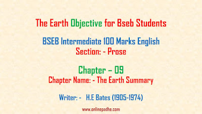 The Earth Objective for Bseb Exam 02