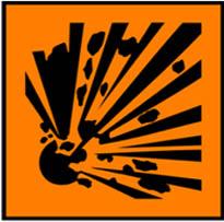 Simbol Bahan Kimia Mudah Meledak