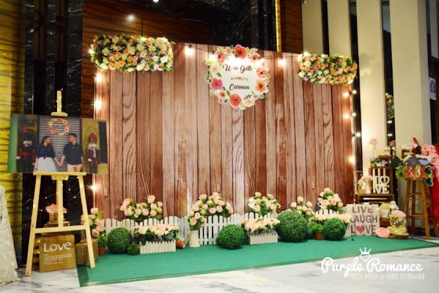 rustic, wooden, backdrop, photo booth, instant print service, vendor, elegant, floral, flower, wooden easel stand, green carpet, grass balls, selangor, bentong, pahang, seremban, melaka, johor, logo, personalized, personalised, lights, wooden crates, decoration, decor