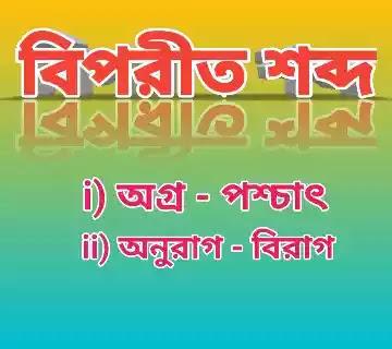 Antonym in Bengali || বিপরীত শব্দ