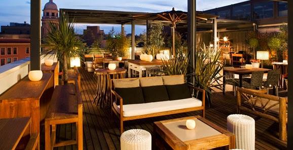 terraza de un hotel