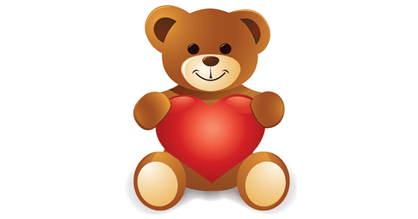 Teddy And Heart Symbols Amp Emoticons