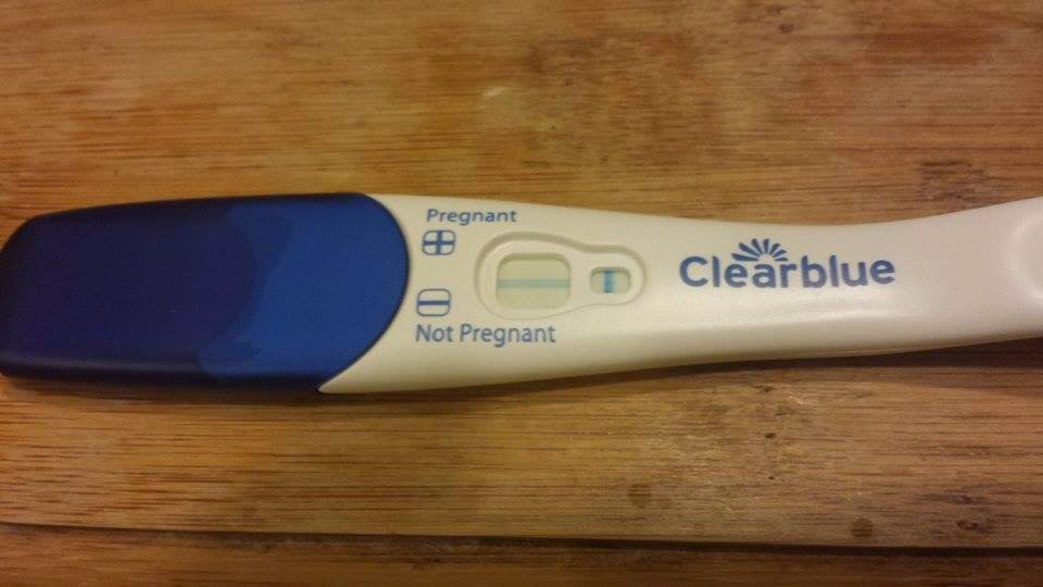 What does a positive clear blue pregnancy test look like